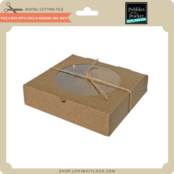 Pizza Box with Circle Window One Inch