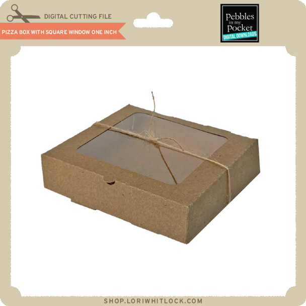 Pizza Box with Square Window One Inch