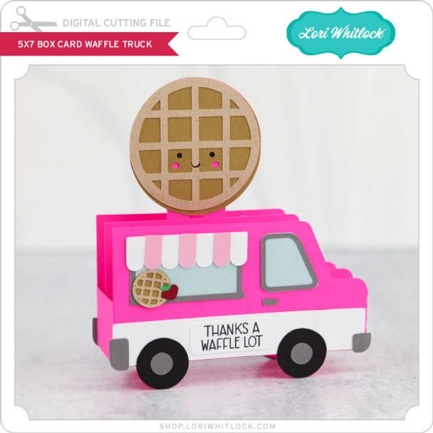 5x7 Box Card Waffle Truck