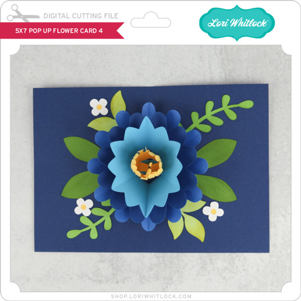 5x7 Pop Up Flower Card 4