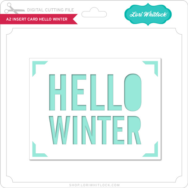 A2 Insert Card Hello Winter