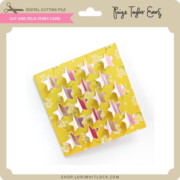 Cut and Fold Stars Card