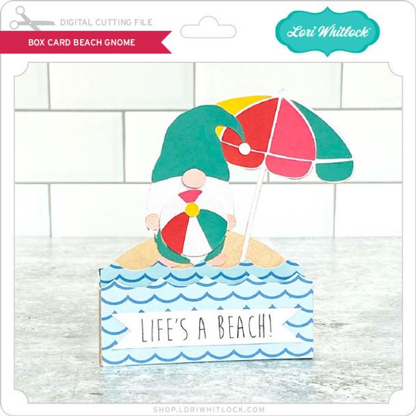 Box Card Beach Gnome