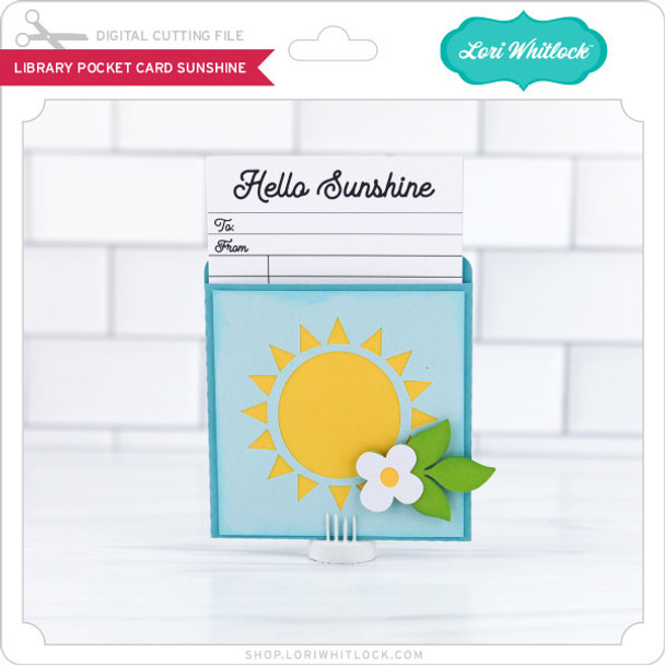 LIbrary Pocket Card Sunshine