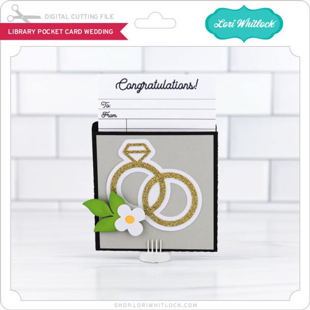 LIbrary Pocket Card Wedding