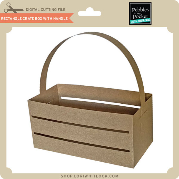 Rectangle Crate Box with Handle