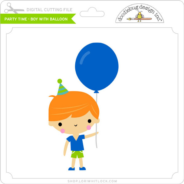 Party Time - Boy with Balloon