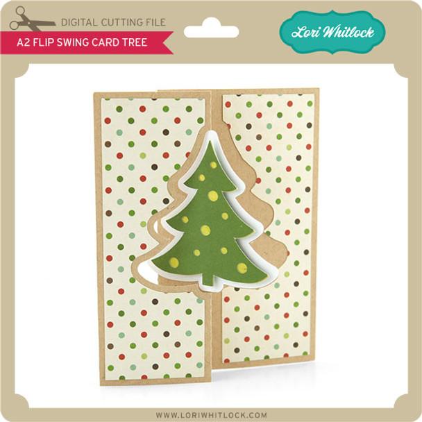 A2 Flip Swing Card Christmas Tree