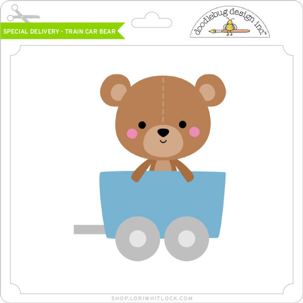 Special Delivery - Train Car Bear