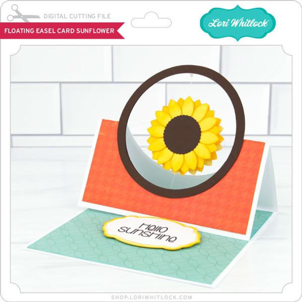 Floating Easel Card Sunflower
