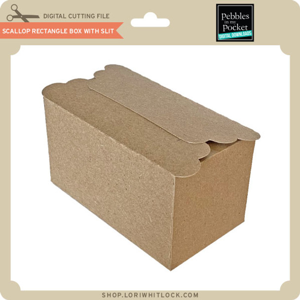 Scallop Rectangle Box With Slit