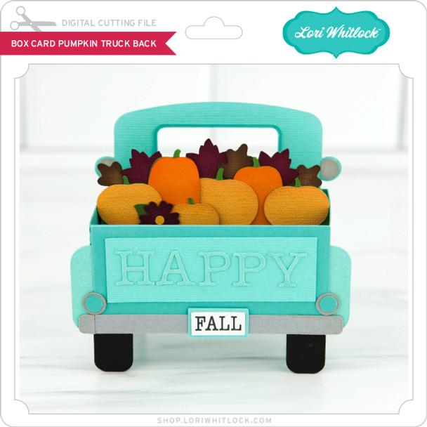 Box Card Pumpkin Truck Back