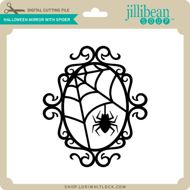 Halloween Mirror with Spider