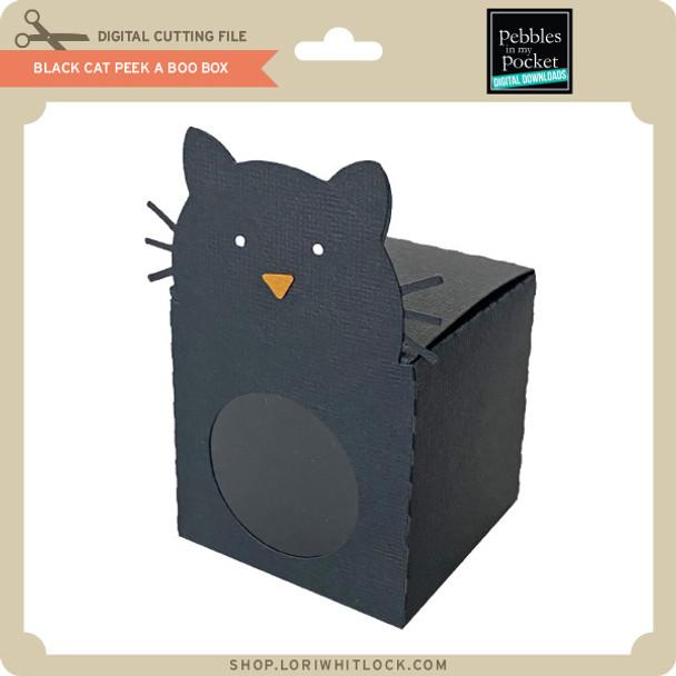 Black Cat Peek A Boo Box