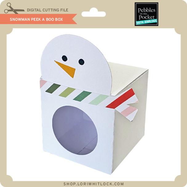 Snowman Peek A Boo Box