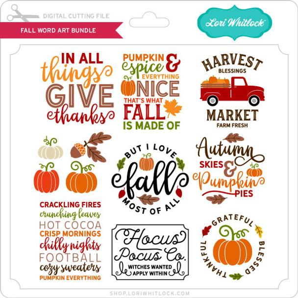 Fall Word Art Bundle