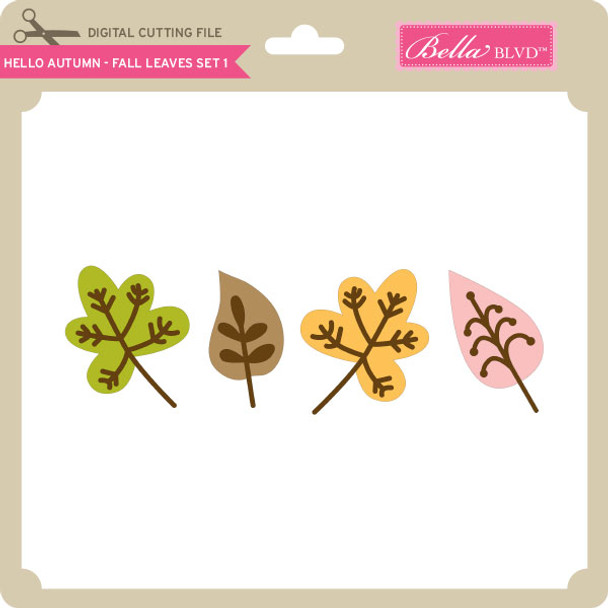 Hello Autumn - Fall Leaves Set 1