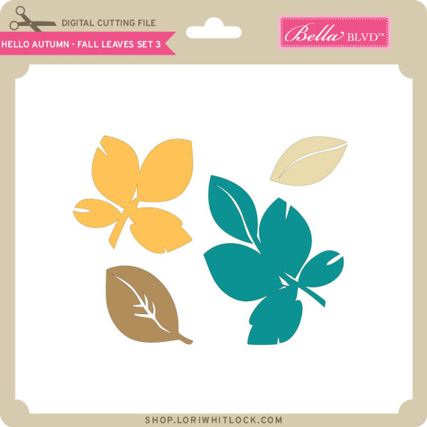 Hello Autumn - Fall Leaves Set 3
