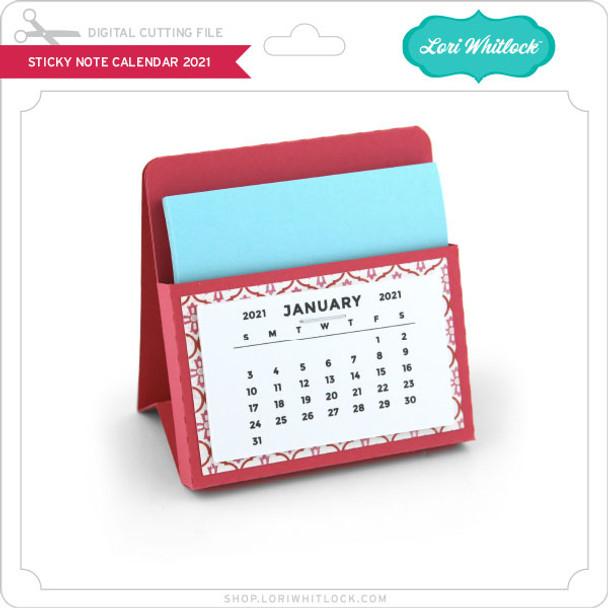 Sticky Note Calendar 2021