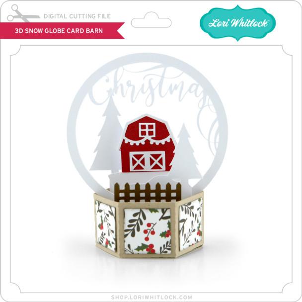 3D Snow Globe Card Barn