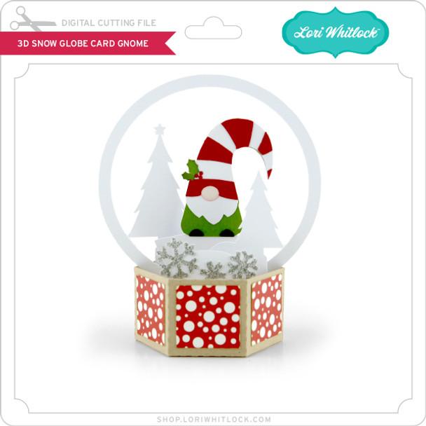 3D Snow Globe Card Gnome