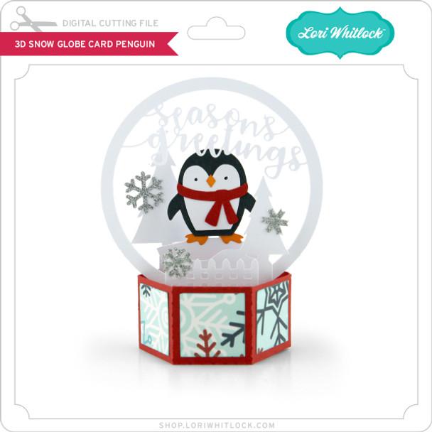 3D Snow Globe Card Penguin