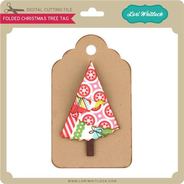 Folded Christmas Tree Tag