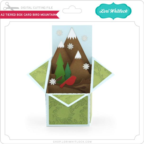 A2 Tiered Box Card Bird Mountain