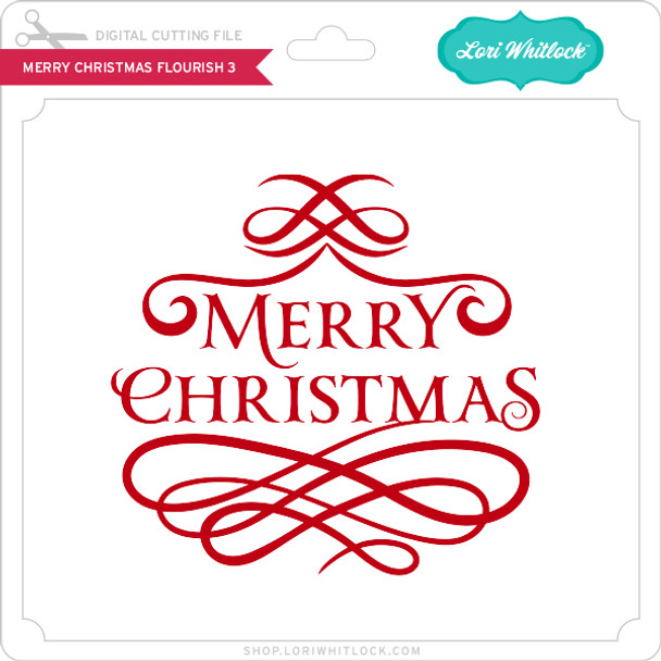 Merry Christmas Flourish 3