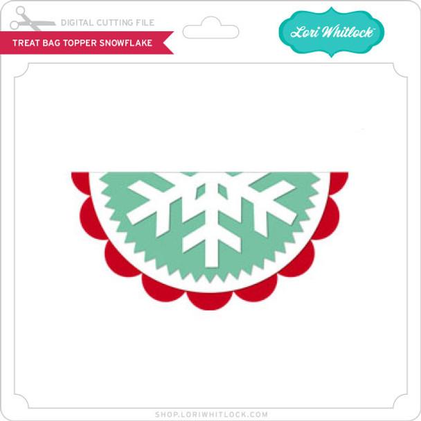Treat Bag Topper Snowflake