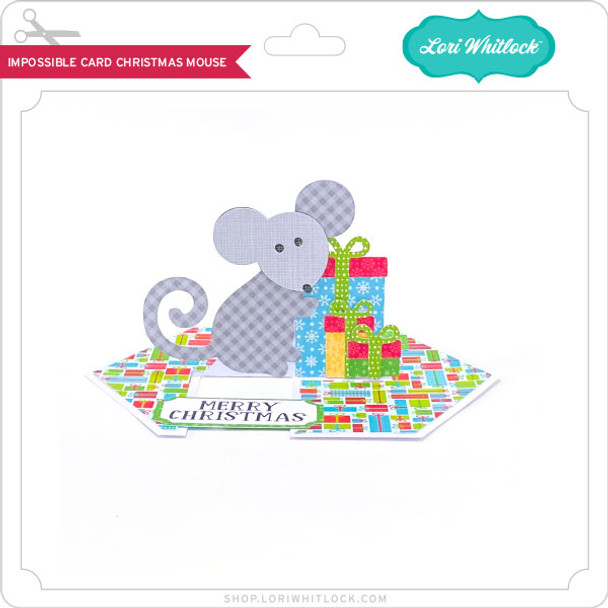 Impossible Card Christmas Mouse