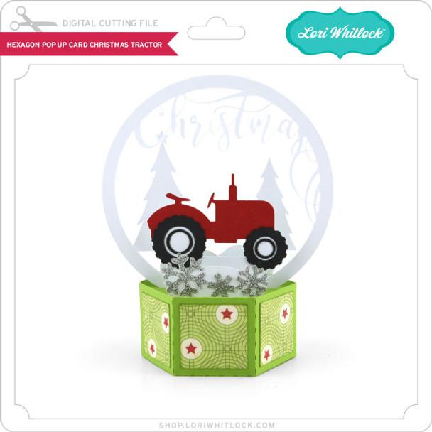 Hexagon Pop Up Card Christmas Tractor