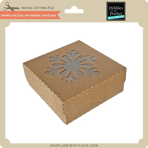 Snowflake Scallop Window Cookie Box
