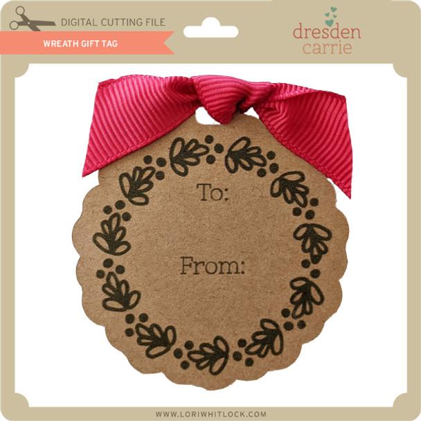 Wreath Gift Tag