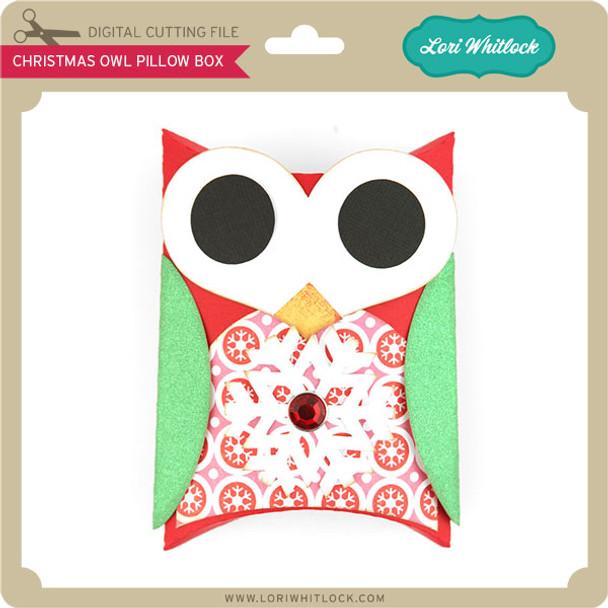 Christmas Owl Pillow Box