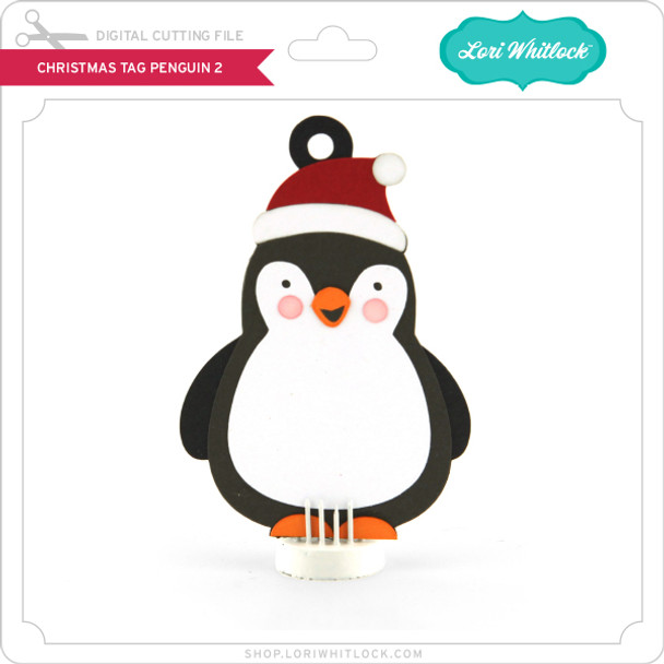 Christmas Tag Penguin 2