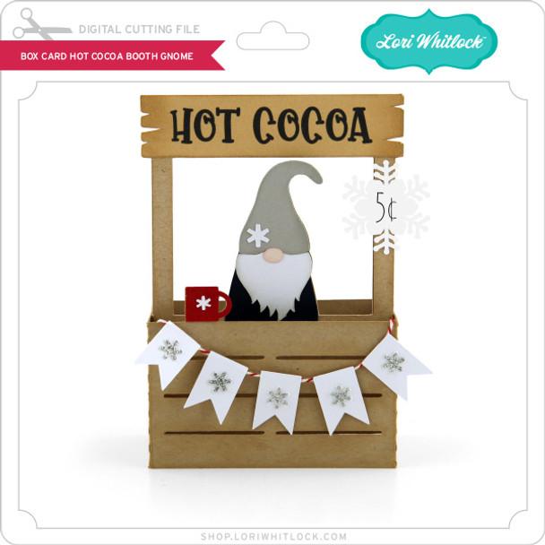 Box Card Hot Cocoa Booth Gnome