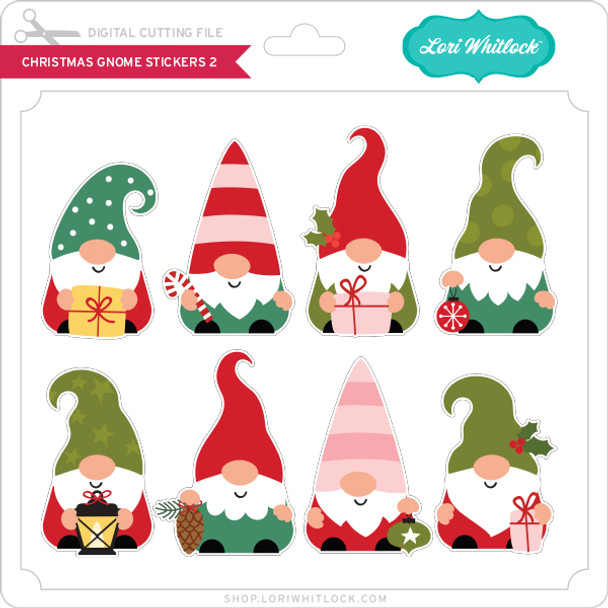 Christmas Gnome Stickers 2