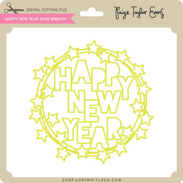 Happy New Year Star Wreath