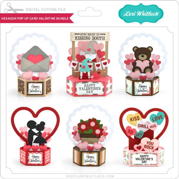 Hexagon Pop Up Card Valentine Bundle