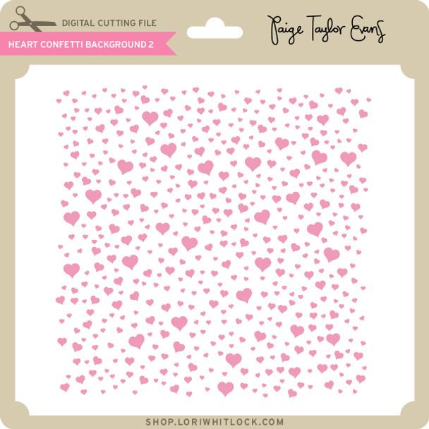 Heart Confetti Background 2