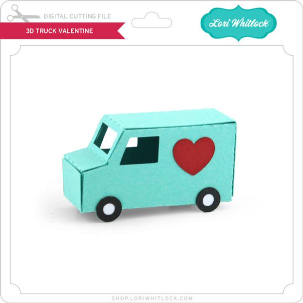 3D Truck Valentine