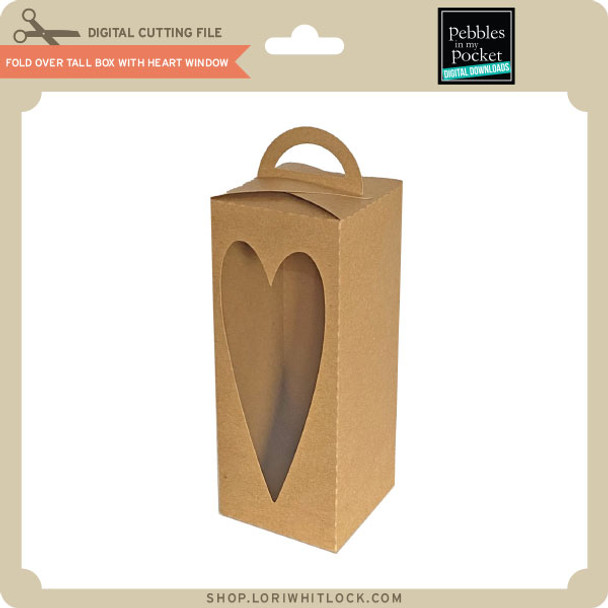 Fold Over Tall Box with Heart Window