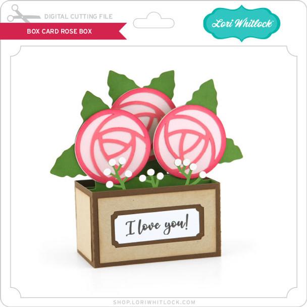 Box Card Rose Box