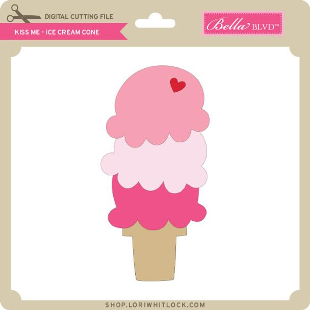 Kiss Me - Ice Cream Cone