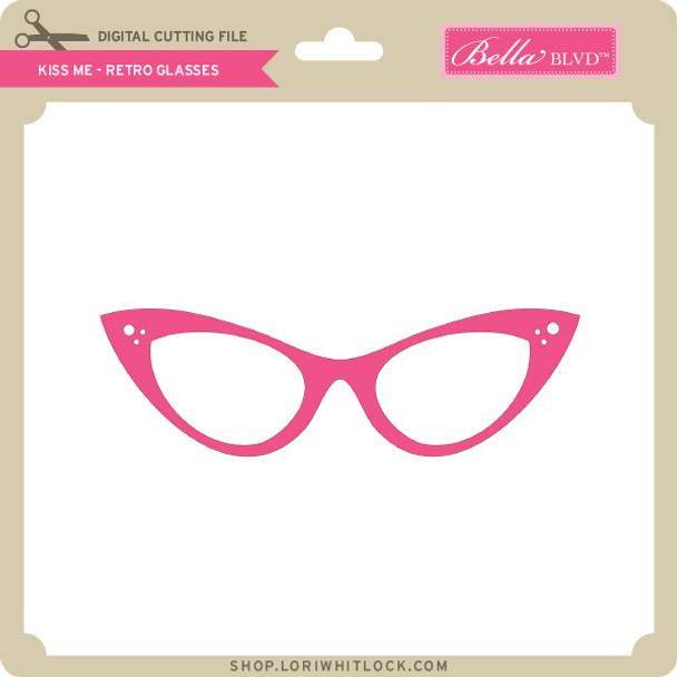 Kiss Me - Retro Glasses