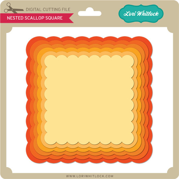 Nested Scalloped Square