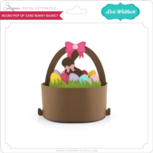 Round Pop Up Card Bunny Basket
