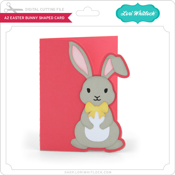 A2 Easter Bunny Shaped Card