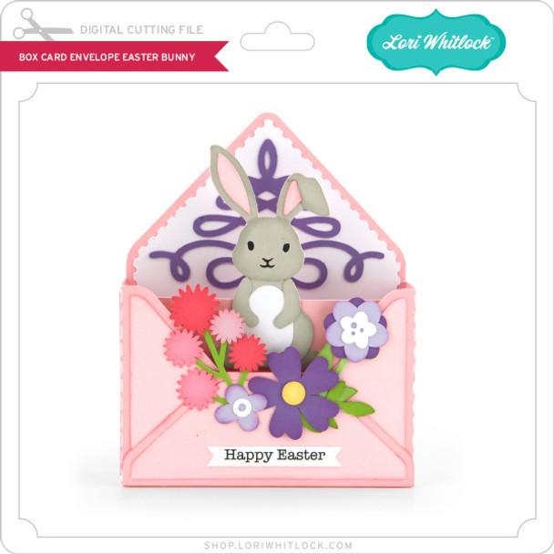 Box Card Envelope Easter Bunny
